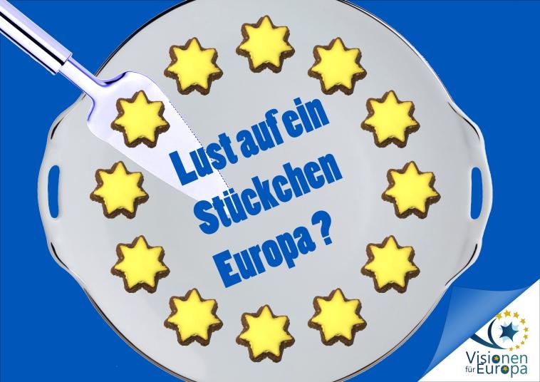 Kuchenverkauf Visionen für Europa